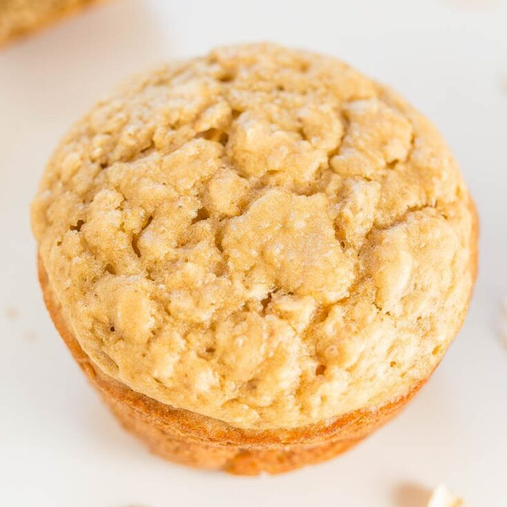 Skinny Oatmeal Brown Sugar Muffins