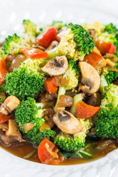 Skinny Broccoli and Mixed Vegetable Stir Fry