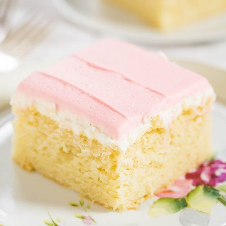 Easy Yellow Cake with Buttercream Frosting