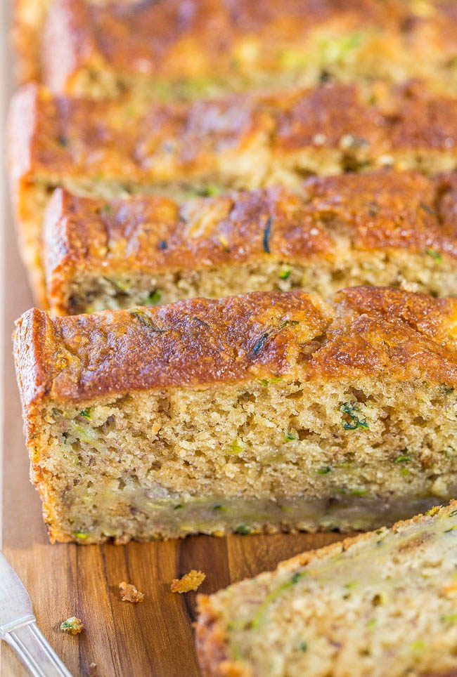 Zucchini Banana Bread - Soft, super moist, easy, no mixer needed! Jazz ...