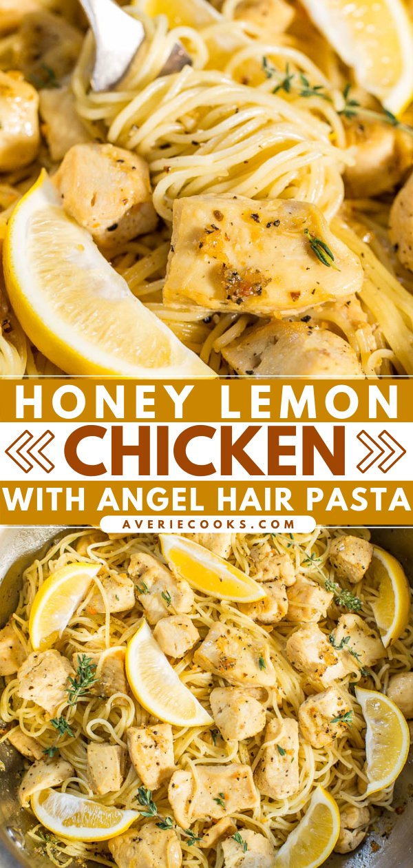 ThisHoney Lemon Chicken Pastais ready in 20 minutes, making it the perfect weeknight meal! Pair with a simple salad or veggies and extra lemon wedges to amp up the lemon flavor. Your family will love this easy pasta recipe!