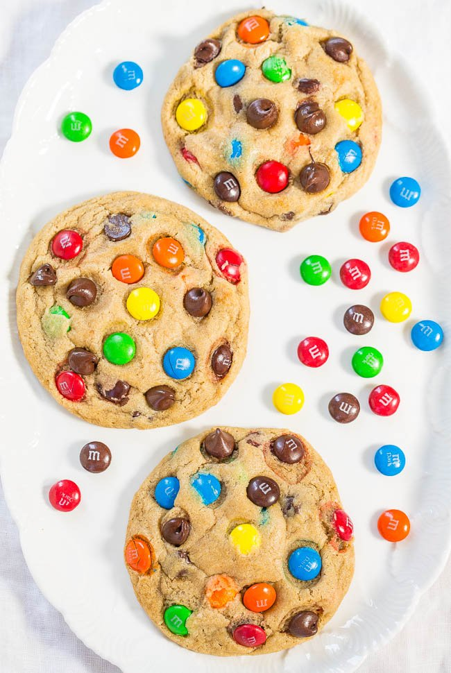 how to make M&M cookies