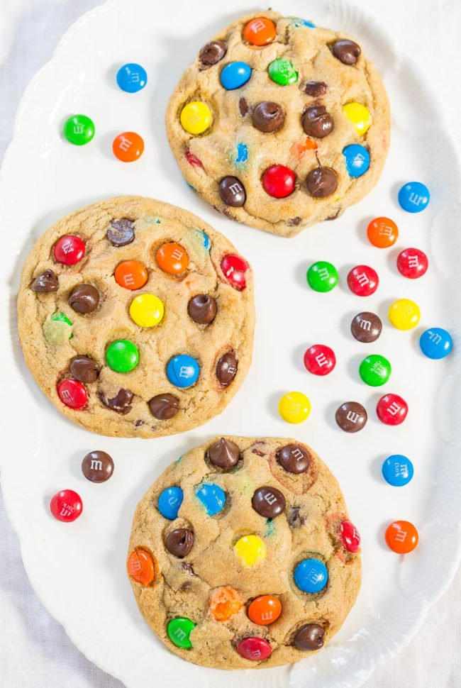 M&M's Cookies with M&Ms around them