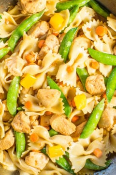 Chicken Teriyaki and Vegetable Bowtie Pasta