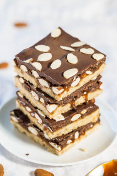 Chocolate Caramel Almond Bars
