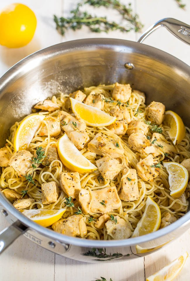 Honey Lemon Chicken with Angel Hair Pasta, see more at http://homemaderecipes.com/cooking-101/14-easy-pasta-recipes/