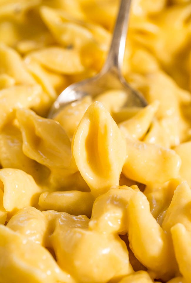 Creamy Stovetop Mac and Cheese — This is a no-frills stovetop mac and cheese recipe the whole family will love. It's easy, ready in 30 minutes, and uses real cheese!