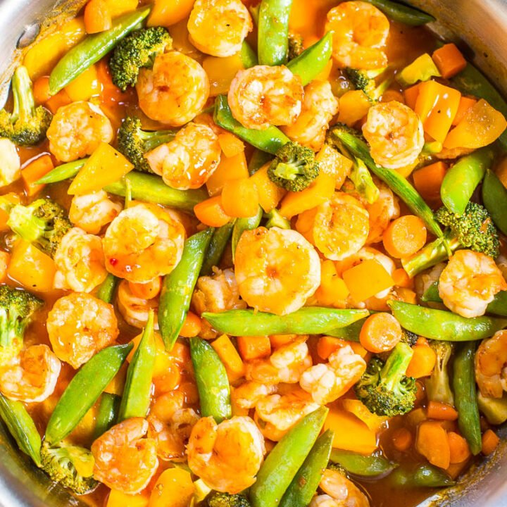 Sweet-and-Sour Shrimp and Vegetable Stir Fry