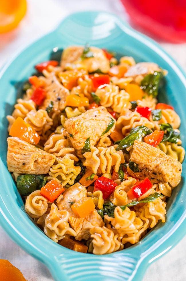 Italian Chicken Pasta Salad Averie Cooks