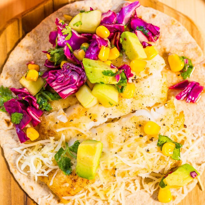 Easy 15-Minute Fish Tacos with Avocado Corn Salsa