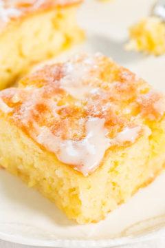 Pineapple Poke Cake with Pineapple Glaze