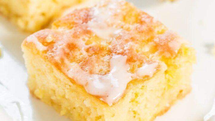 Pineapple Cake With Pineapple Glaze Easy Poke Cake Averie Cooks