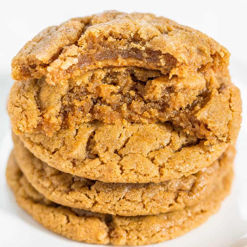 The Best Flourless Peanut Butter Cookies - Averie Cooks