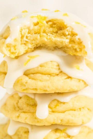 Softbatch Glazed Lemon Cream Cheese Cookies