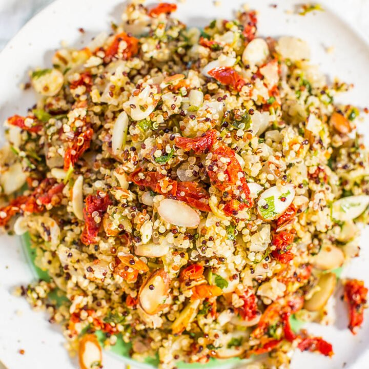Lemon, Sun-Dried Tomato, and Almond Quinoa Salad