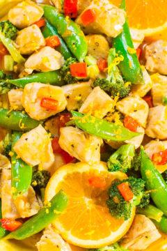One-Skillet Orange Chicken with Vegetables