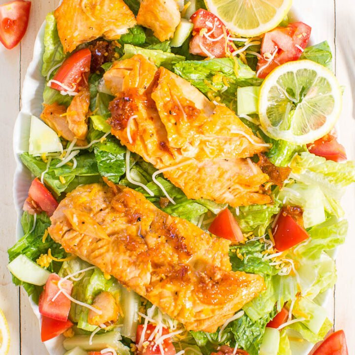 Honey Lemon-Glazed Salmon Salad