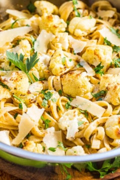 Browned Butter Cauliflower and Fettuccine with Parmesan