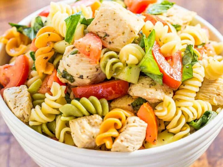 Italian Chicken Pasta Salad Averie Cooks