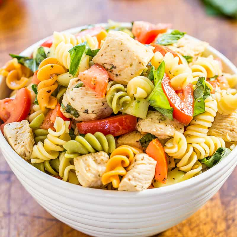 Italian Chicken Pasta Salad