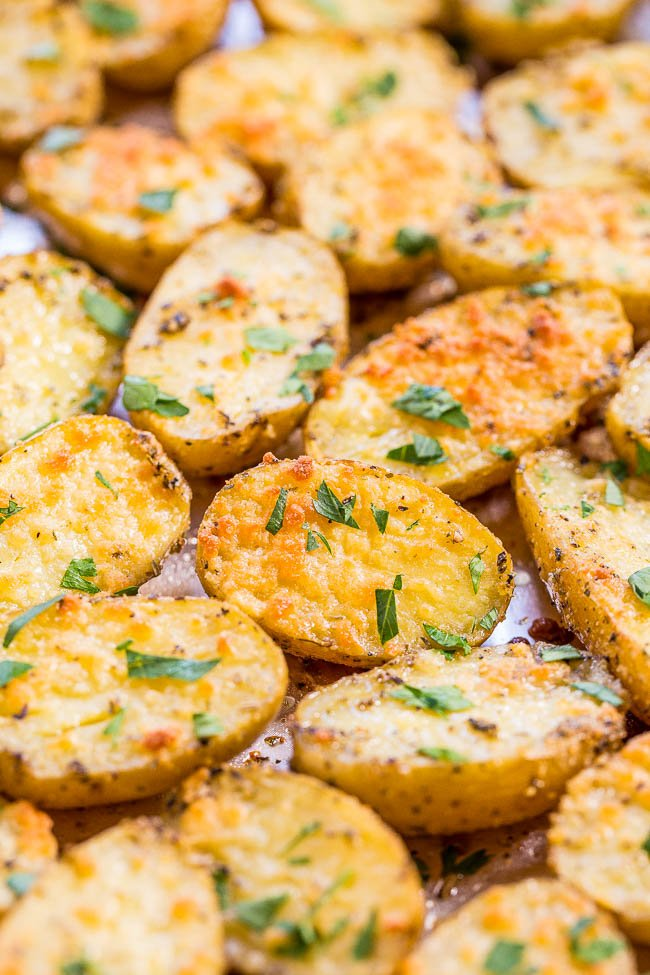 Herb Roasted Potatoes on baking sheet