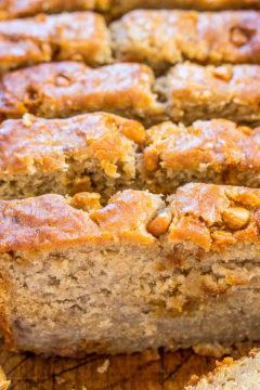 Peanut Butter Apple Banana Bread