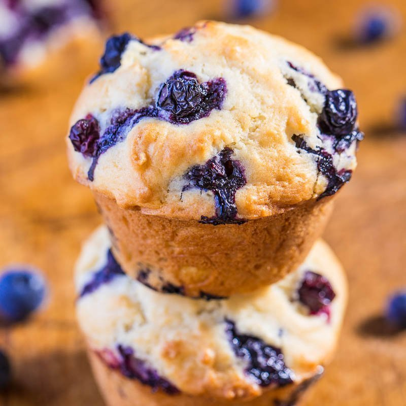 Healthy Blueberry Muffins (So Easy & Fluffy!) - Averie Cooks