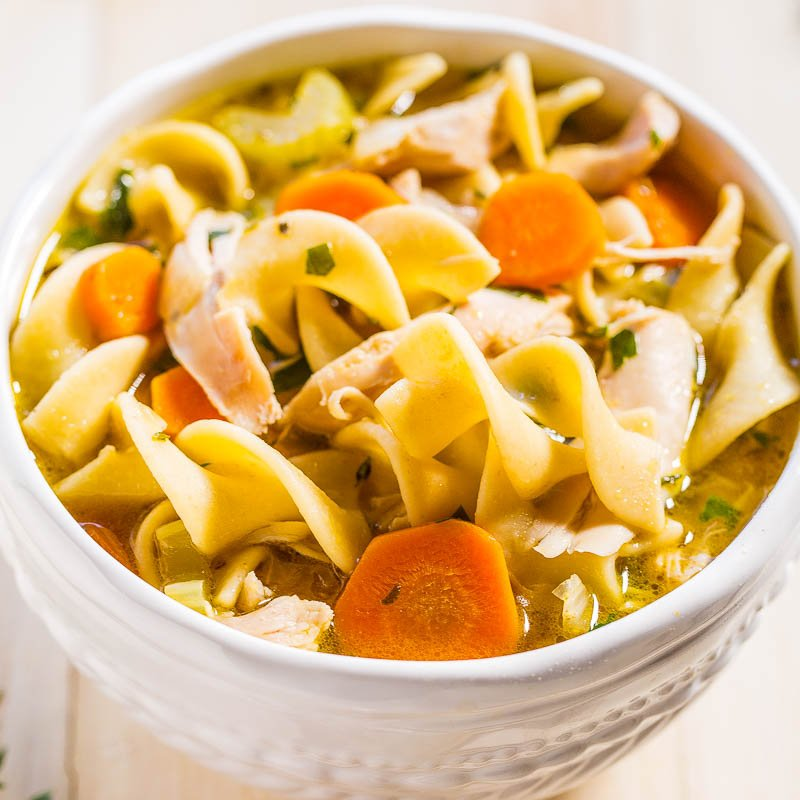 Easy 30 Minute Homemade Chicken Noodle Soup Averie Cooks