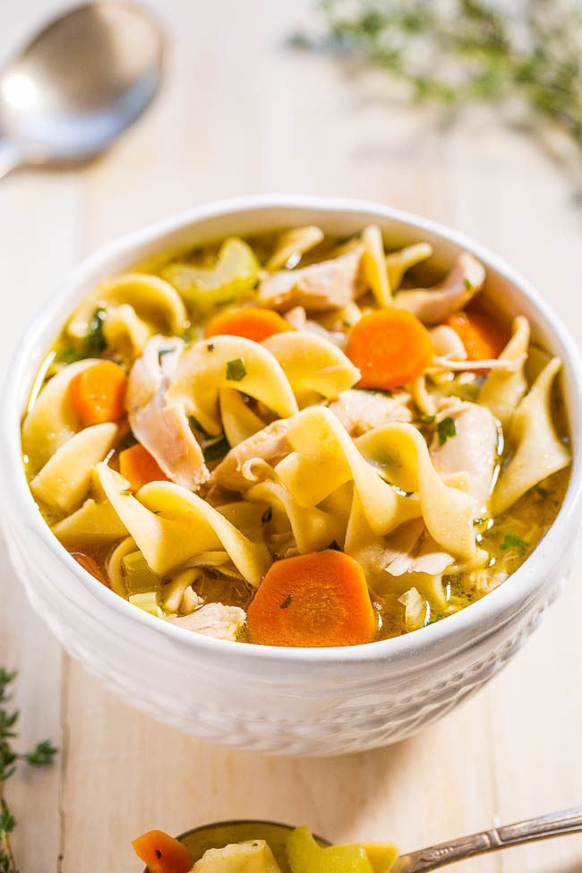 How to make chicken noodle soup with bones