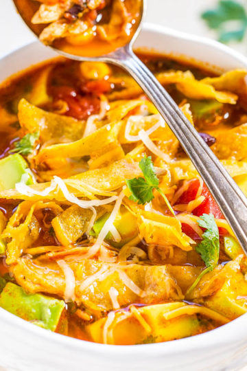 Easy 30-Minute Homemade Chicken Tortilla Soup
