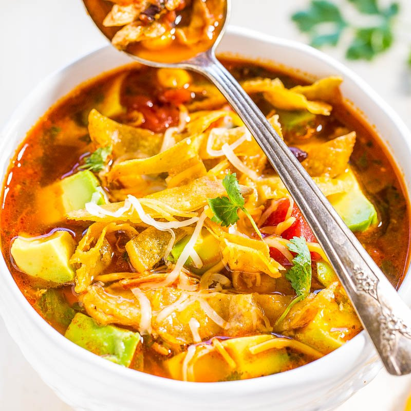 Easy 30-Minute Homemade Chicken Tortilla Soup