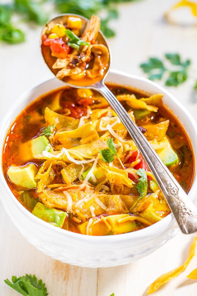 Easy 30 Minute Homemade Chicken Tortilla Soup Averie Cooks