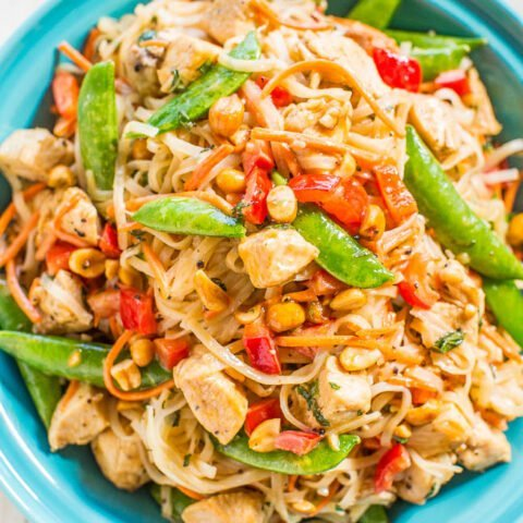 Peanut Chicken with Peanut Noodles