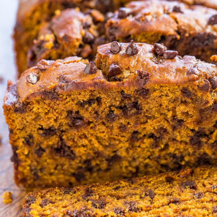 The Best Pumpkin Chocolate Chip Bread