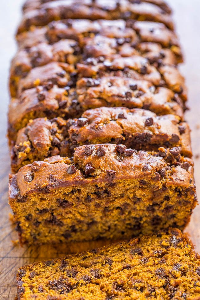 The Best Pumpkin Chocolate Chip Bread Averie Cooks
