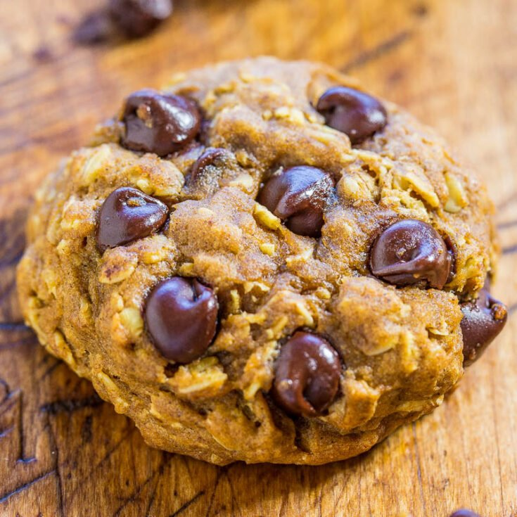 Chocolate Chip Pumpkin Oatmeal Cookies