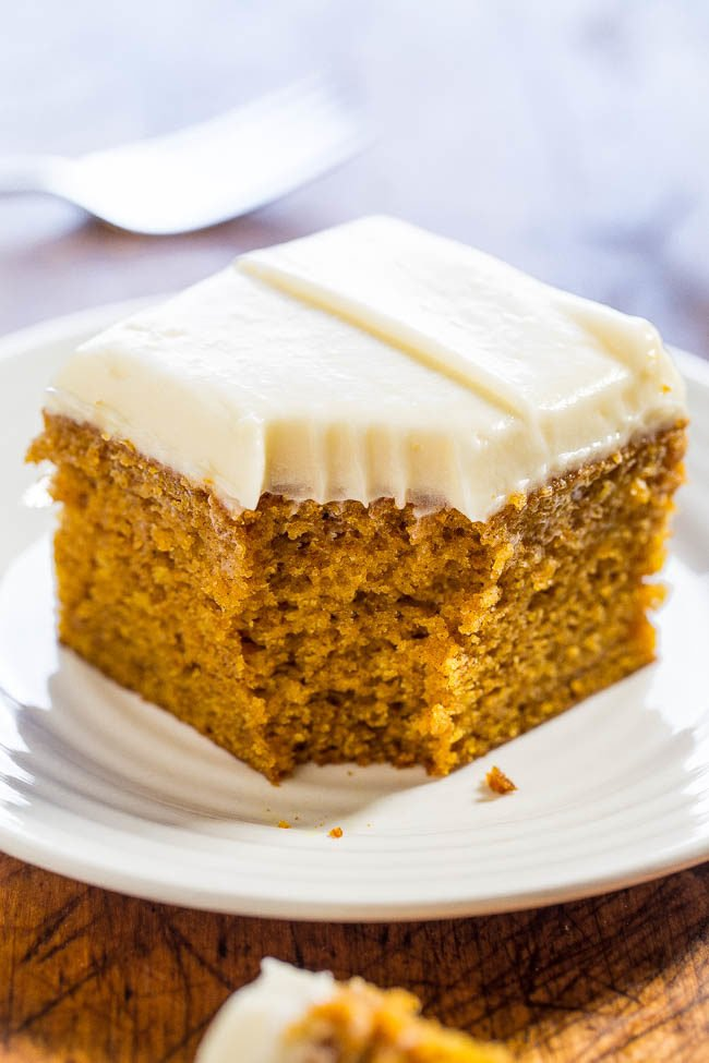 Carrot Pumpkin Cake With Cream Cheese Frosting