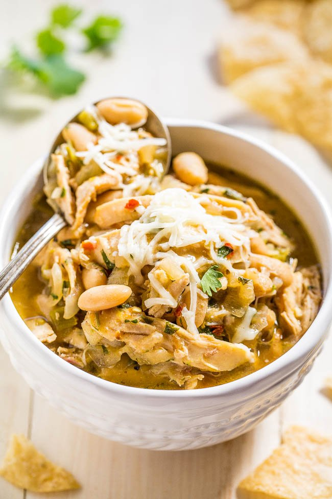 White Chicken Chili | 15 Easy Recipes For Dinner To Help You Survive Winter