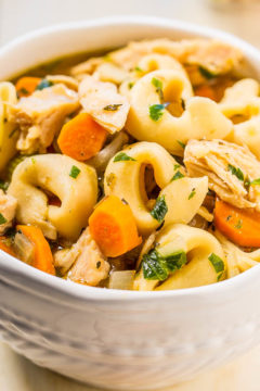 Easy 30-Minute Homemade Chicken Tortellini Soup