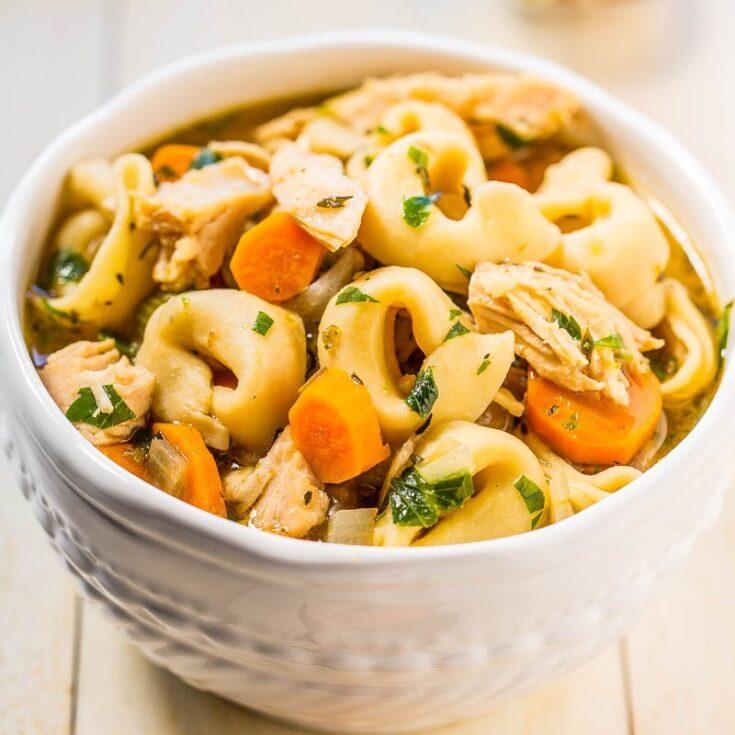 Easy 30-Minute Homemade Chicken Tortellini Soup