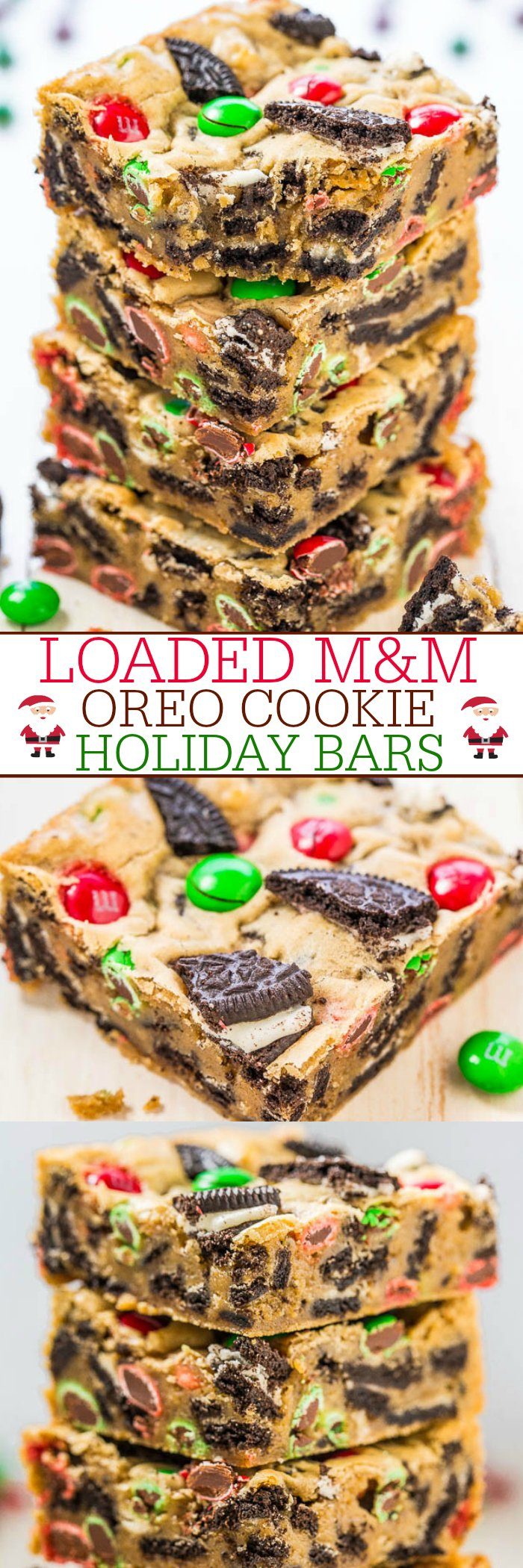 Loaded M M Oreo Cookie Holiday Bars Averie Cooks