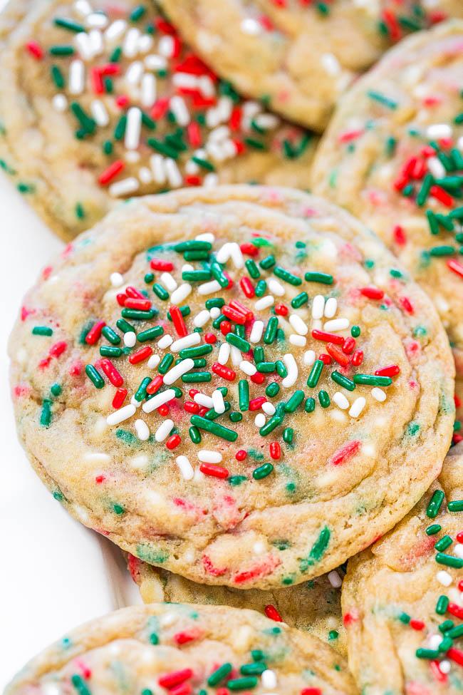 holiday sugar cookies with sprinkles