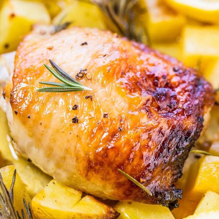 One-Pan Honey Lemon Chicken and Roasted Potatoes