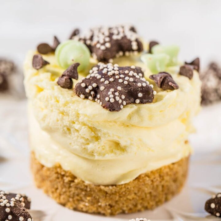 Easy No-Bake Mini Cheesecakes
