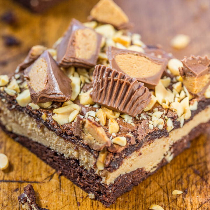 Peanut Butter Cup Cheesecake Brownies