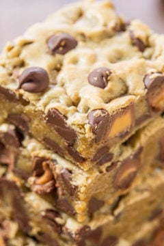 Rolo Chocolate Chip Blondies