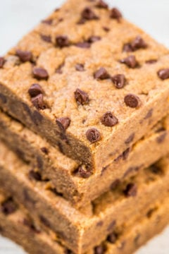 Almond Butter Dark Brown Sugar Chocolate Chip Bars
