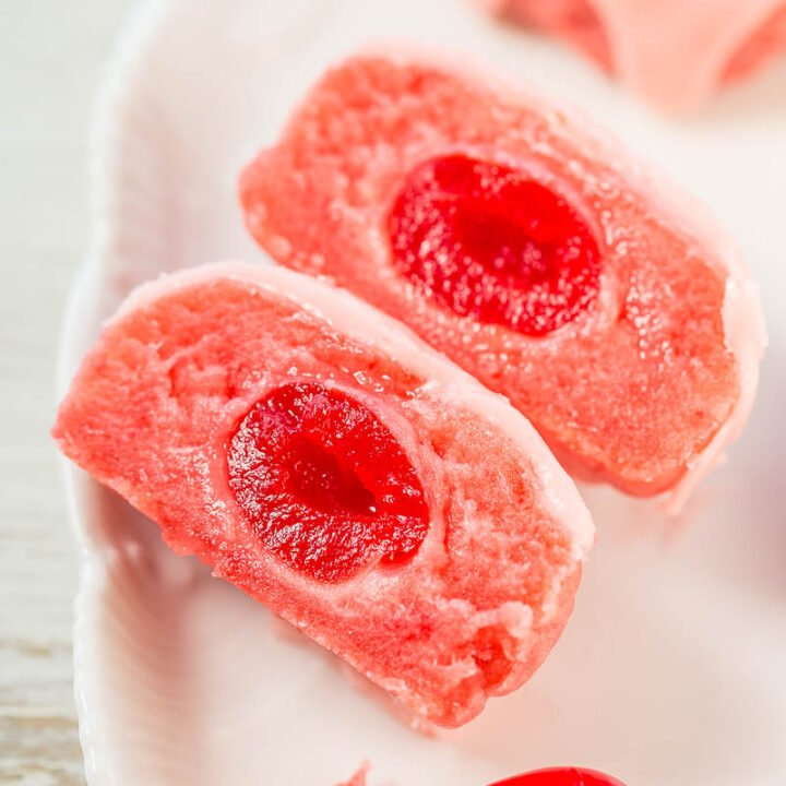 Glazed Cherry Bonbon Cookies