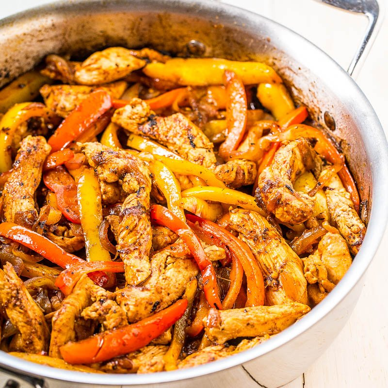 Easy 30 minute chicken fajitas averie cooks forumfinder Choice Image