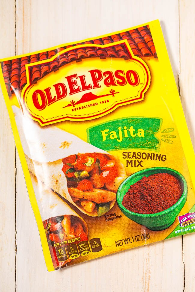 Old El Paso fajita seasoning packet